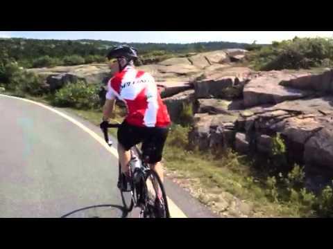 Bike climb up Cadillac Mountain - Bar Harbor, Maine