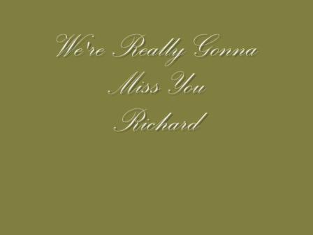 ♪♪ ƸӜƷ Remembering Richard Warfield ƸӜƷ ♪♪