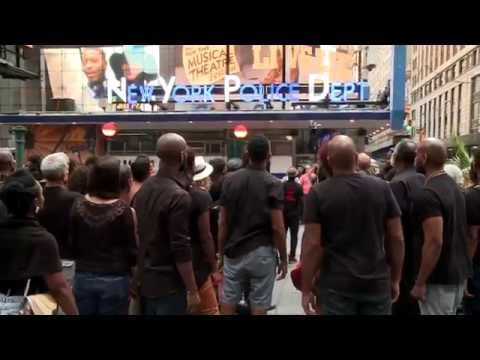 I Can't Breathe: Broadway Stars Gather In Times Square To Send A Message About Police Violence & Eric Garner!