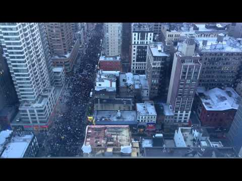 Timelapse video reveals massive size of New York City protests