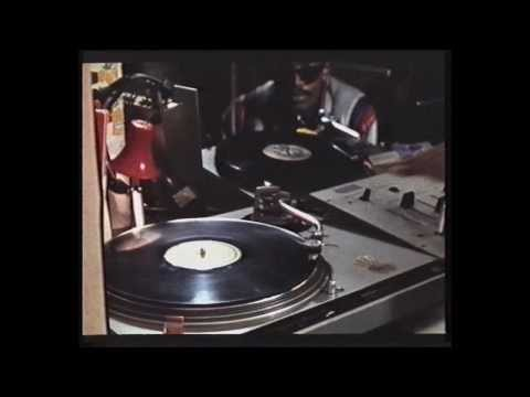 Grandmaster Flash juggling 'Take Me To The Mardi Gras' by Bob James, sampled by Run DMC in 'Peter Piper' [Wild Style clip]