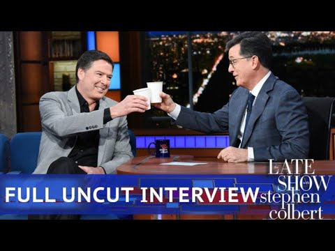 Watch Stephen Colbert's uncut interview with James Comey (