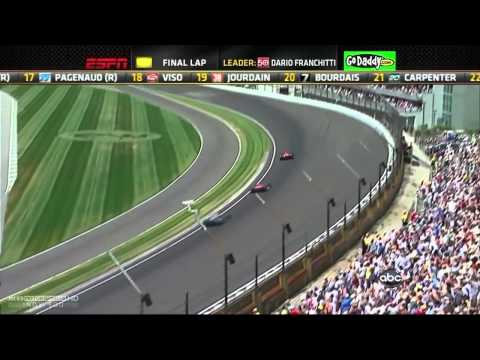 2012 Indy 500 - Wild Finish Takuma Sato vs Dario Franchitti