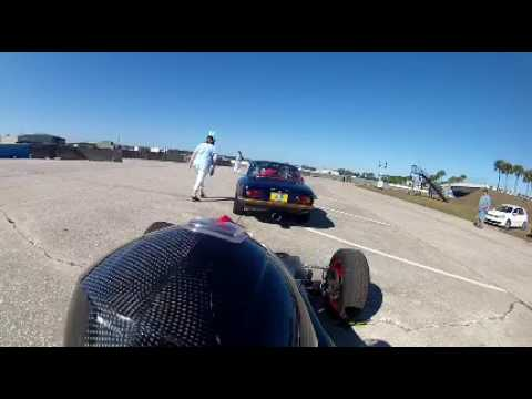 Lotus type 61 Sebring practice, troubles, T14 spin 2/11/17