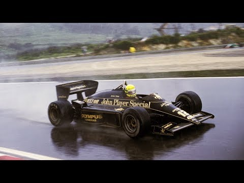 FIRST WIN - AYRTON SENNA DRIVING ALONE ESTORIL 1985