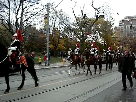 Remembrance Day Mounted Parade