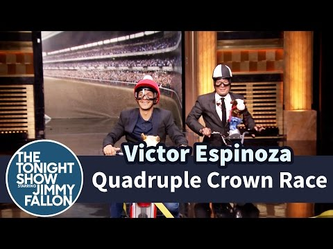 Tonight Show Quadruple Crown Race with Victor Espinoza