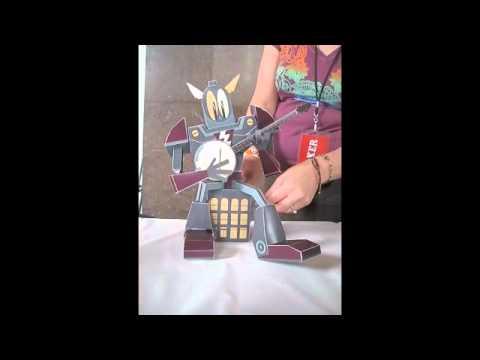 Banjo Gundam paper automata
