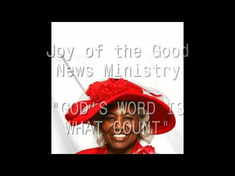 """Evangelist Fr. Ethel Taylor is preaching """"God's Word is What Count""""!"""