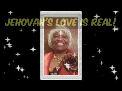"""Evangelist Dr. Ethel Taylor preacing """"The Goodness of Jehovah""""."""