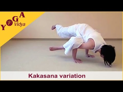 Kakasana – several advanced variations of the Crow