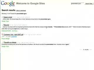 Google Sites Tour