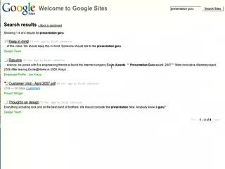 Google Sites Tour