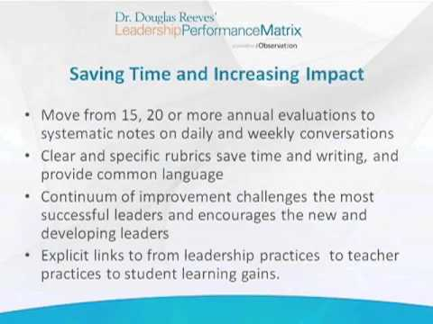 Marzano and Reeves Webinar: Linking Teacher and Principal Evaluation (Part 3)
