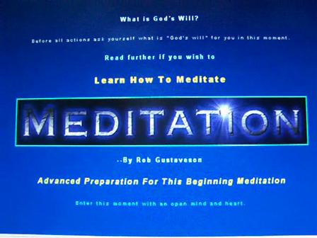 meditation beginning