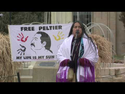 Marilyn Black Elk speaks on behalf of Leonard Peltier part 1