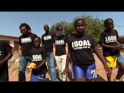 In Support of 1GOAL: Bono and Jessica Alba visit a school in Ghana