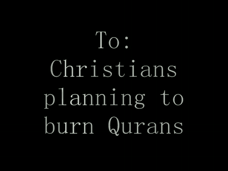 RE: Koran burning in Florida