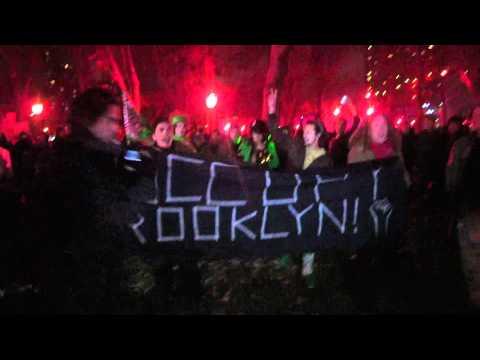 OWS solidarity march on Brooklyn Bridge, 11-17-2011