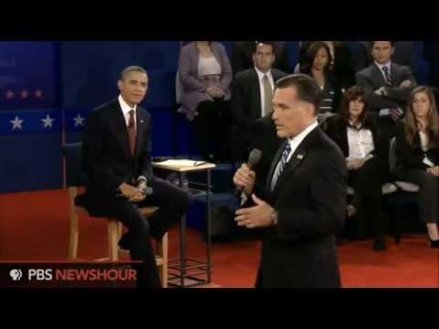 Presidential Town Hall Debate Barack Obama and Mitt Romney Hempstead NY