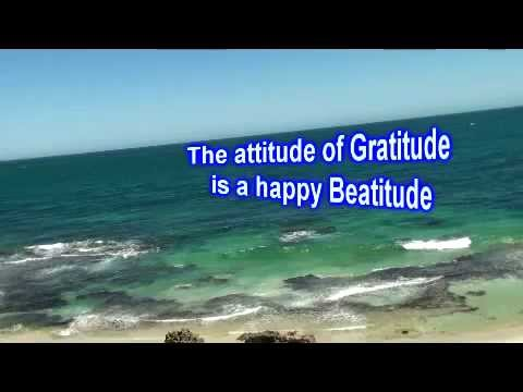 Gratitude is the Attitude for the Multitude