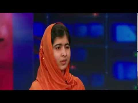 Malala Yousafzai interview on The Daily Show with Jon Stewart - 8th October, 2013 (Television Aired)
