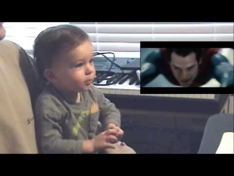 When A Baby Watches Superman Fly