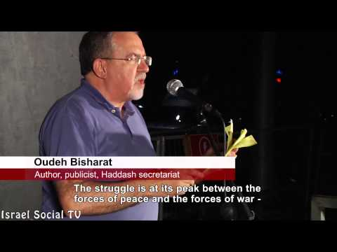 Israelis and Palestinians Unify: Demonstration For Peace 7-26-14