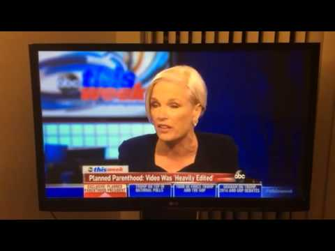 Planned Parenthood undercover sting video Cecil Richards interviewed by ABC News George Stephanopolus