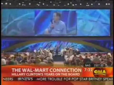 Hillary Clinton Walmart fight against unions labor Brian Ross ABC News Reports