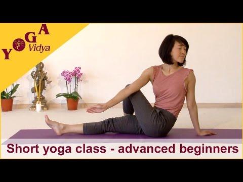 Short yoga class for advanced beginners