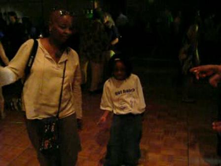 Julia's daughter dancing