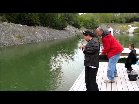 Maggie catches big Nebraska Largemouth Bass