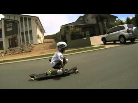 6 year old downhill skateboarder