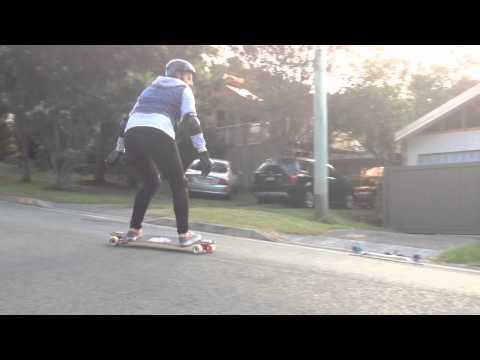 Downhill skateboarding slides at Burleigh Heads