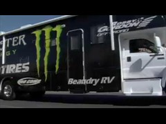 Robby Taking His Monster Energy Trophy Truck Out For A Test