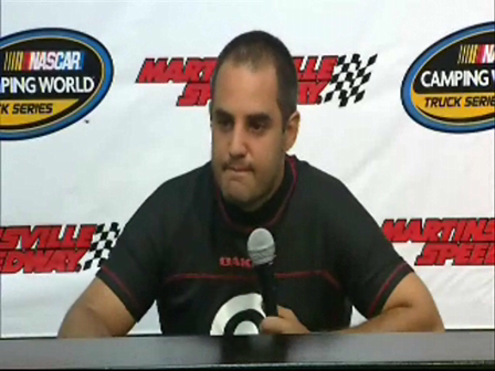 Montoya learns something with Robby Gordon at the track