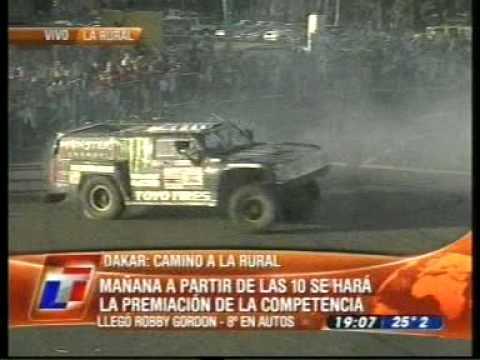 2010 Dakar Finish Burnouts