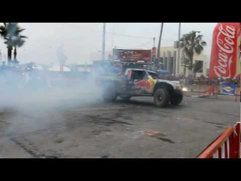 Trophy Truck - Bryce Menzies donuts at Baja 500 2012.