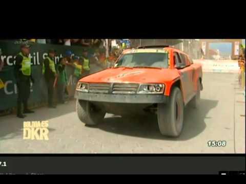 Robby Gordon Ramp Jump Bolivia
