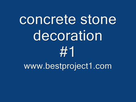 concrete stone decoration #1