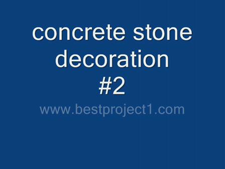concrete stone decoration #2