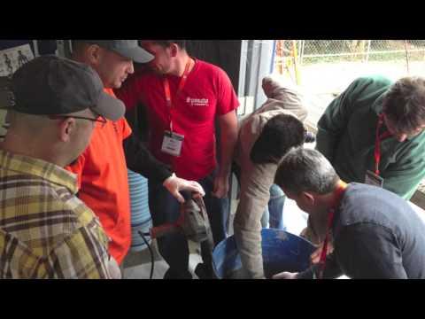 Learn how to Hand Carve Vertical Decorative Concrete --- The Concrete Decor Show 2013