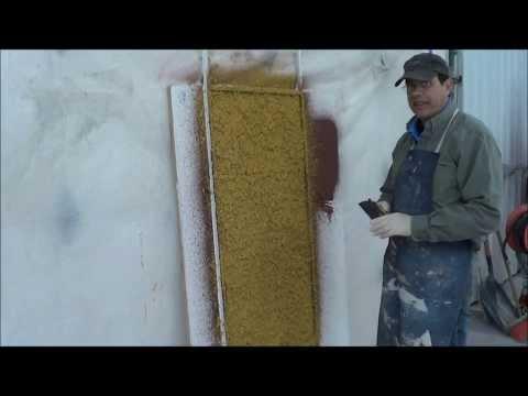 GFRC  (Glass Fiber Reinforced Concrete) spraying a vertical backcoat