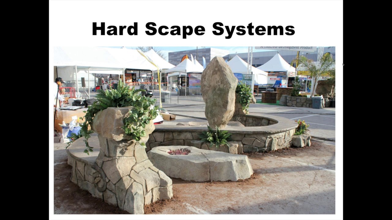 Overview of HardScape Systems used at the World of Concrete 2015 by Vertical Artisans