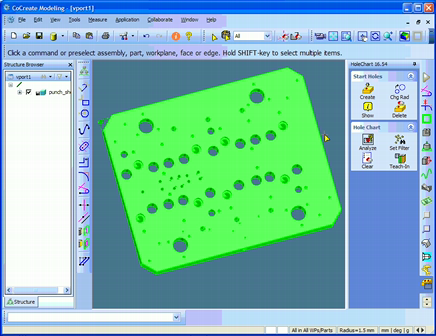 Hole Chart creation directly from 3D CAD Model