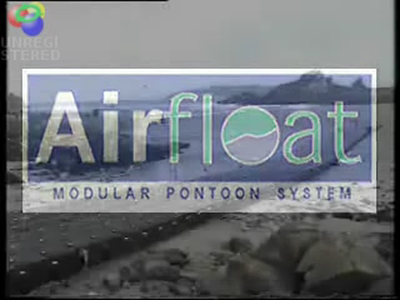 Airfloat Modular Pontoons performing in a force 11 Storm.
