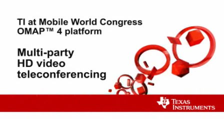 Multi-party HD video teleconferencing at MWC
