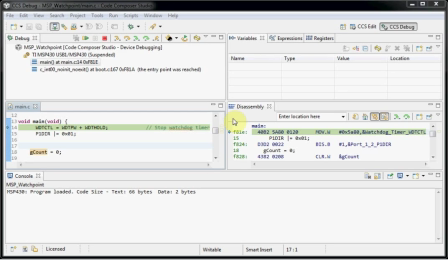 Training: CCS: Setting a breakpoint on a variable