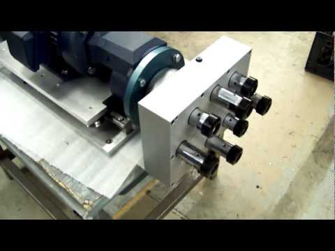 Eight Spindle Higher HP Slide with Manual Stop Feed Option
